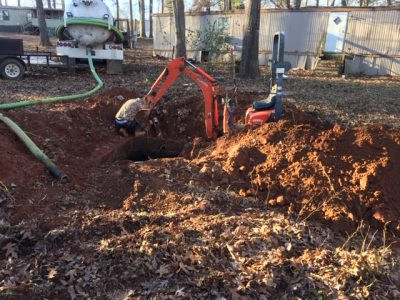 Septic tank overflow Sewage line breaks Water main breaks